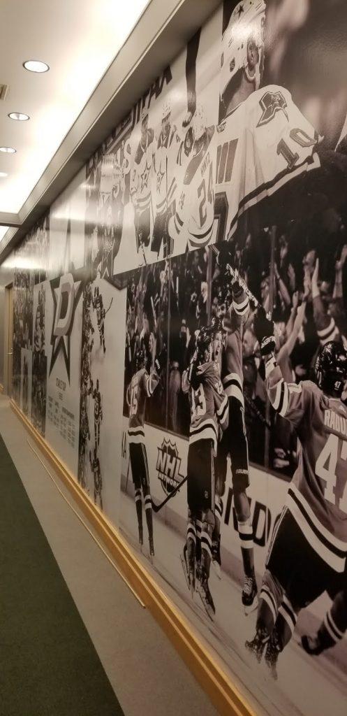 Dressing room wall mural
