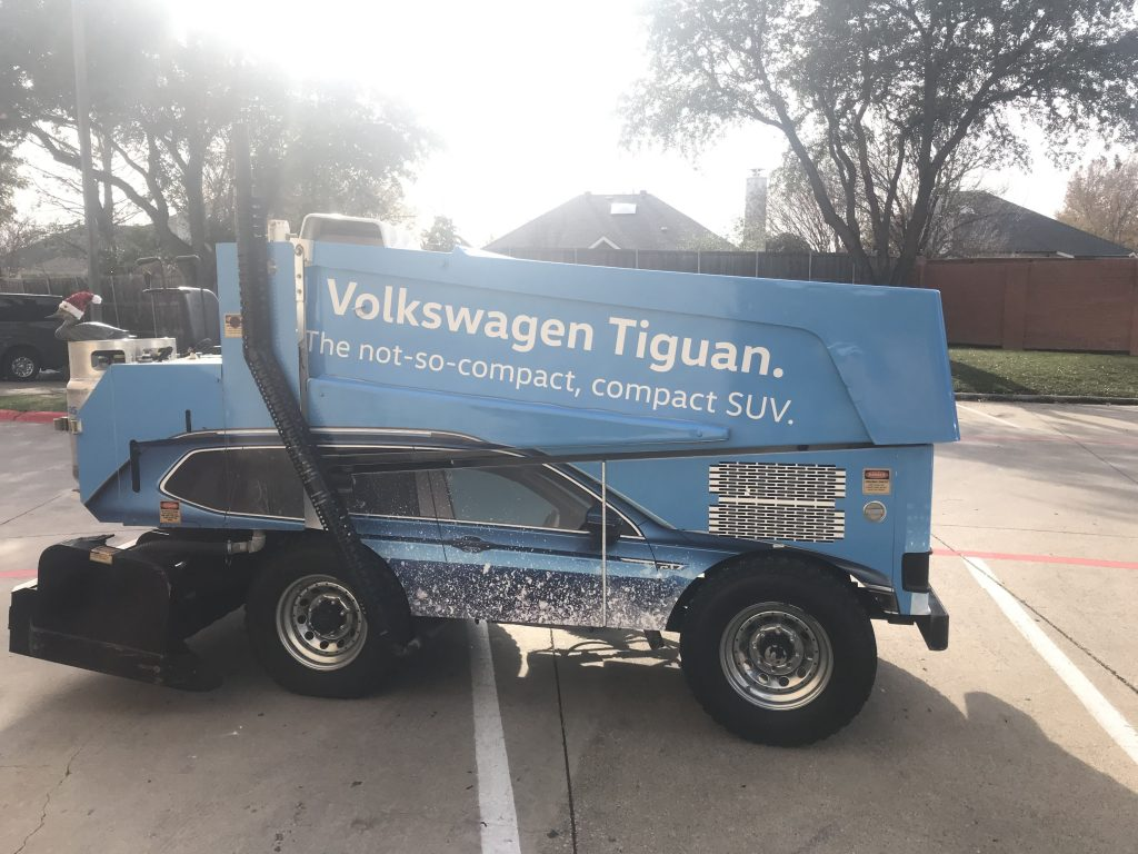 Custom printed car / zamboni wrap VW