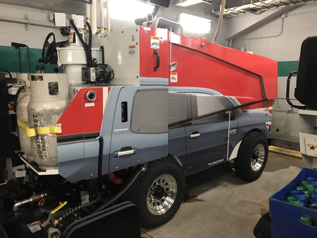 Custom printed car / zamboni wrap Toyota Tundra
