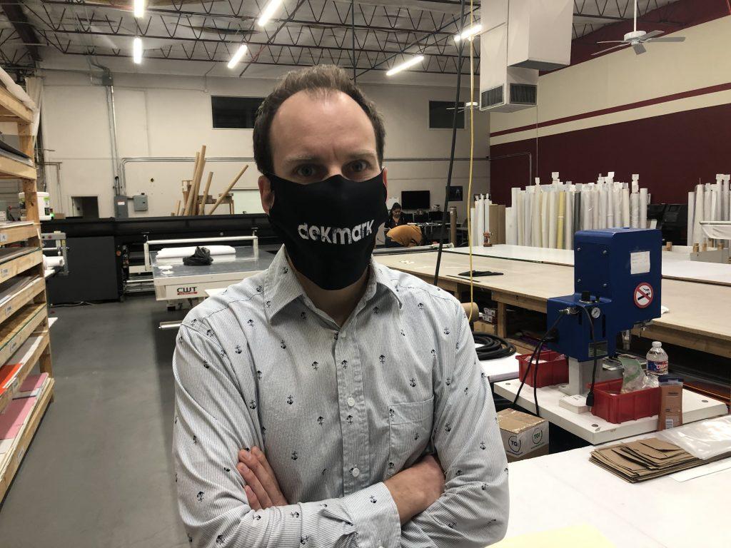 Custom printed polyester fabric masks