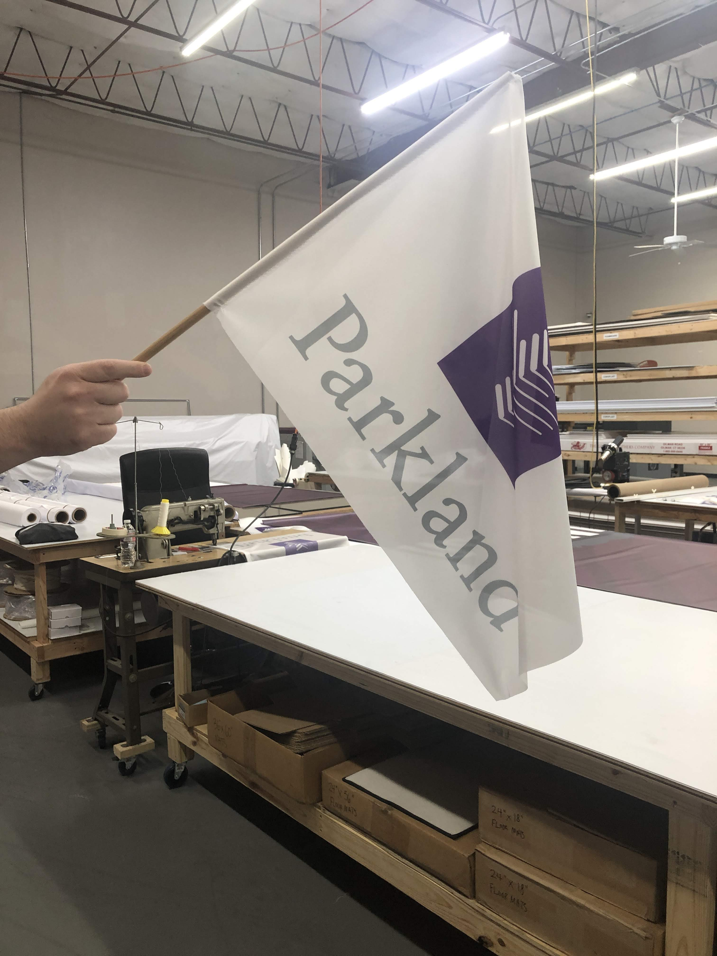 Dye sublimated fabric flags
