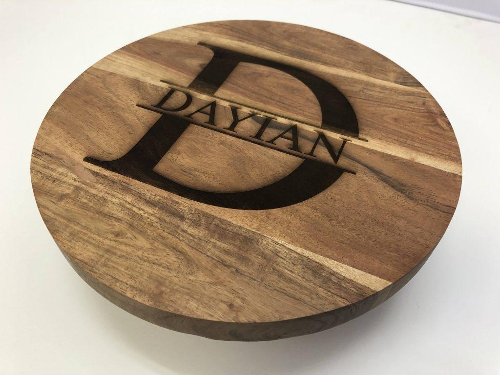 Laser engraving on wood