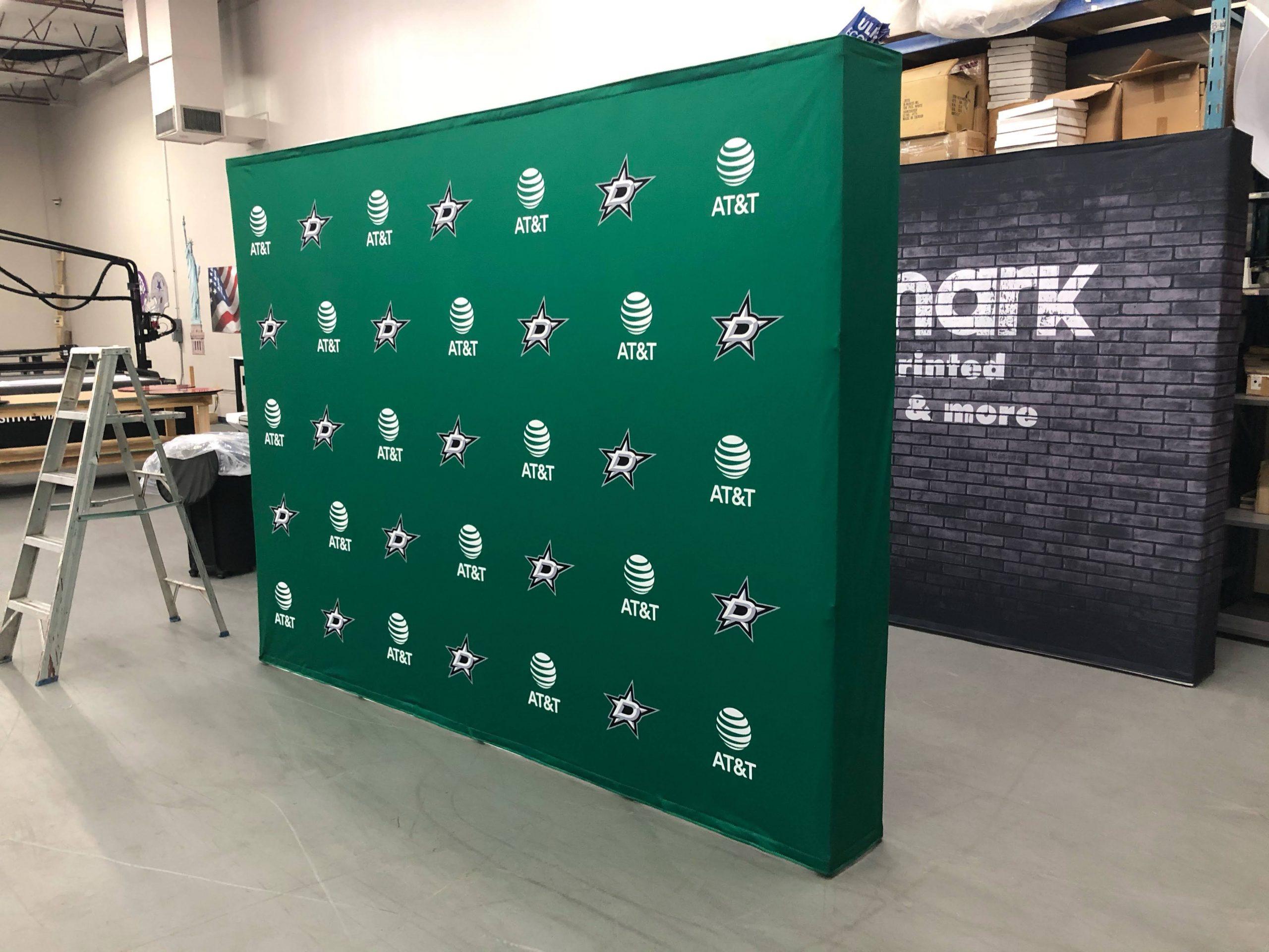 ATT backdrop with Dallas Stars